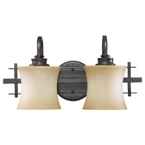 Quorum Lighting Quorum Lighting Prairie Toasted Sienna Bathroom Light 5433-2-44