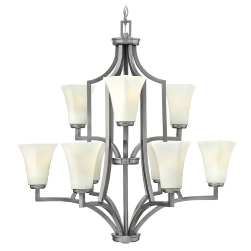Hinkley Lighting Hinkley Spencer 9-Light Chandelier in Brushed Nickel 4198BN