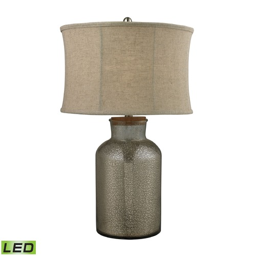 Dimond Lighting Dimond Lighting Antique Mercury LED Table Lamp with Oval Shade D2412-LED