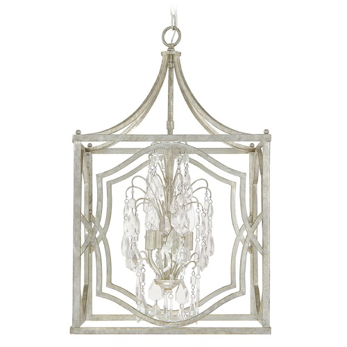 Capital Lighting Capital Lighting Blakely Antique Silver Pendant Light 9482AS-CR