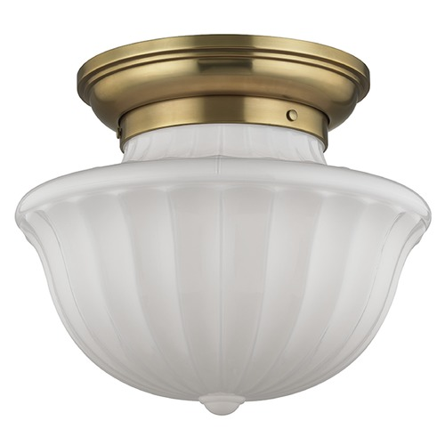 Hudson Valley Lighting Dutchess 2 Light Semi-Flushmount Light - Aged Brass 5015F-AGB