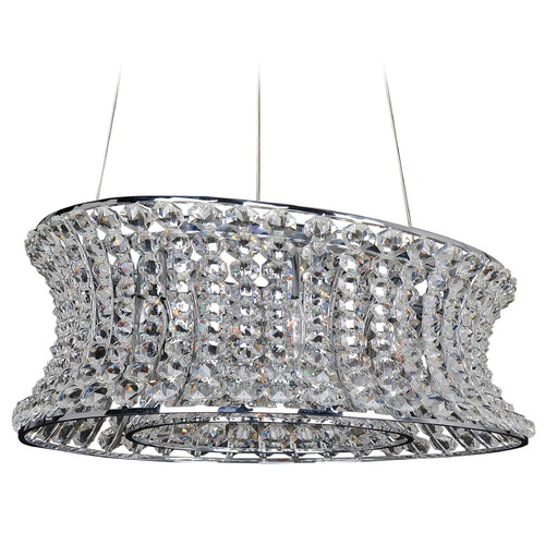 Allegri Lighting Corsette 18in x 36in Oval Pendant 11733-010-FR001