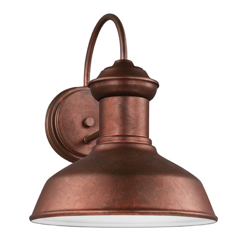 Sea Gull Lighting Sea Gull Fredricksburg Weathered Copper Outdoor Wall Light 8547701-44