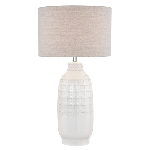 Lite Source Lighting Lite Source Naomi Ivory Table Lamp with Drum Shade LS-22945
