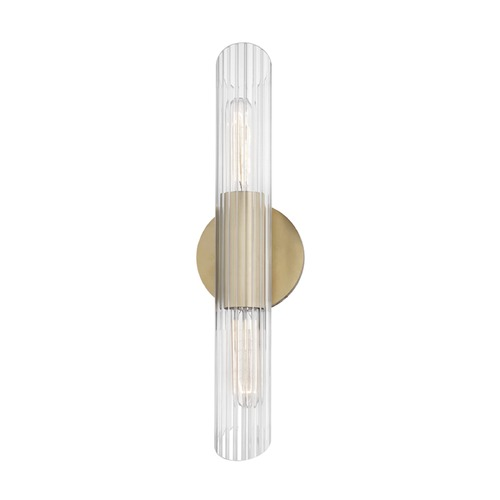 Mitzi by Hudson Valley Industrial Sconce Brass Mitzi Cecily by Hudson Valley H177102S-AGB