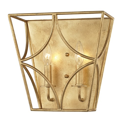 Hudson Valley Lighting Hudson Valley Lighting Green Point Gold Leaf Sconce 4800-GL