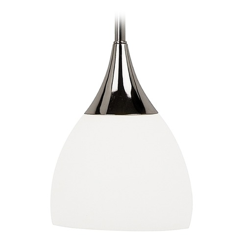 Sea Gull Lighting Modern Mini-Pendant Light with White Glass 61791-841