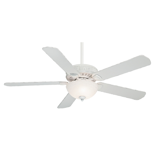 Casablanca Fan Co Casablanca Fan Ainsworth Gallery Cottage White Ceiling Fan with Light 55005