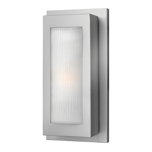 Hinkley Lighting Modern Outdoor Wall Light with White Glass in Titanium Finish 2050TT-GU24
