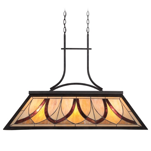 Quoizel Lighting Quoizel Asheville Valiant Bronze Island Light with Rectangle Shade TFAS344VA