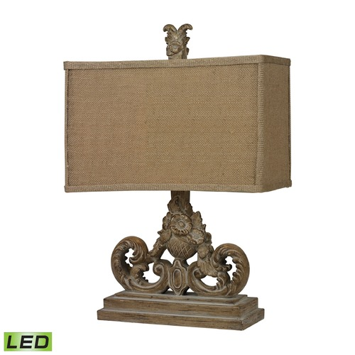 Dimond Lighting Dimond Lighting Aged Wood LED Table Lamp with Rectangle Shade D2413-LED