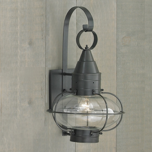 Norwell Lighting Norwell Lighting Classic Onion Gun Metal Outdoor Wall Light 1512-GM-CL