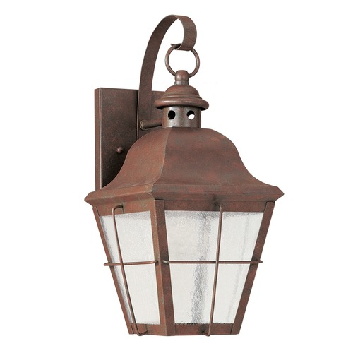 Sea Gull Lighting Sea Gull Lighting Chatham Weathered Copper LED Outdoor Wall Light 846291S-44