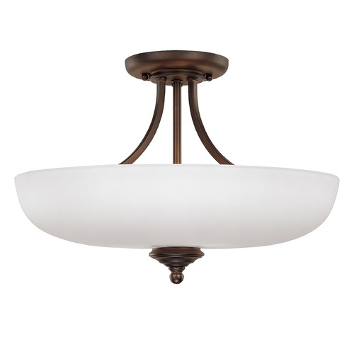 Capital Lighting Capital Lighting Chapman Burnished Bronze Semi-Flushmount Light 3947BB-SW