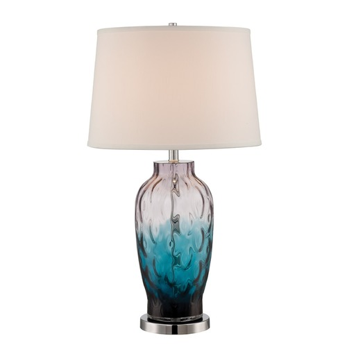 Lite Source Lighting Lite Source Rahma Chrome / Colored Table Lamp with Drum Shade LS-22853