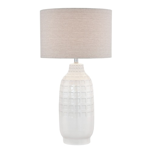 Lite Source Lighting Lite Source Naomi Ivory Table Lamp with Drum Shade LSF-22945