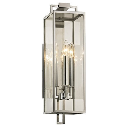 Troy Lighting Troy Lighting Beckham Polished Stainless Outdoor Wall Light B6532