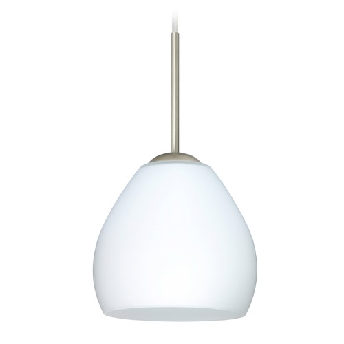Besa Lighting Besa Lighting Bolla Satin Nickel Mini-Pendant Light 1BT-412207-SN