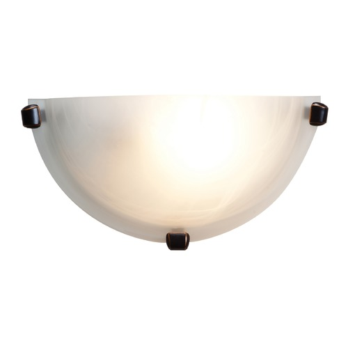 Access Lighting Modern Sconce Wall Light with Alabaster Glass in Oil Rubbed Bronze Finish 20417-ORB/ALB