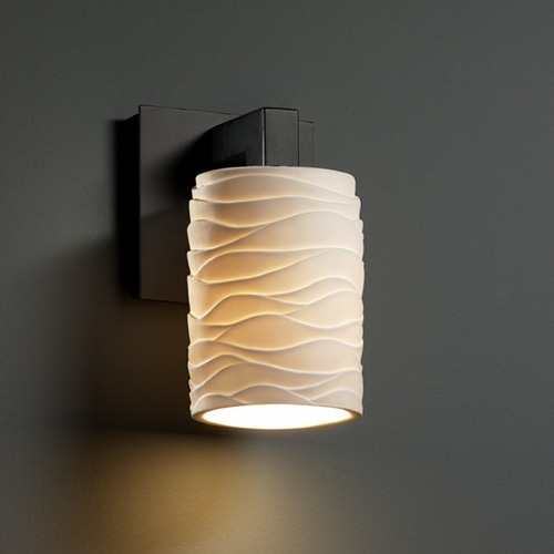 Justice Design Group Justice Design Group Limoges Collection Sconce POR-8921-10-WAVE-MBLK