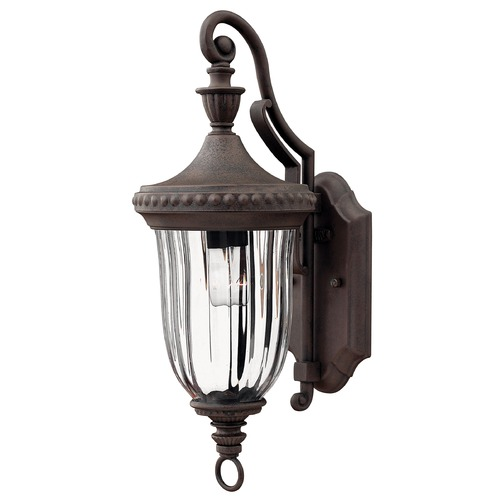 Hinkley Outdoor Wall Light with Clear Glass in Midnight Bronze Finish 1240MN