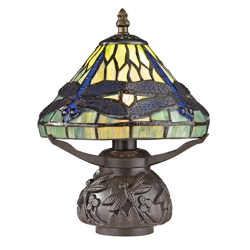Dimond Lighting Table Lamp with Multi-Color Glass in Dark Bronze Finish D2538