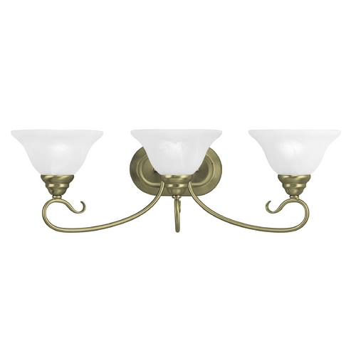 Livex Lighting Livex Lighting Coronado Antique Brass Bathroom Light 6103-01