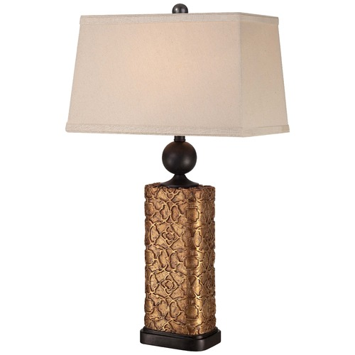 Minka Lavery Minka Bronze Table Lamp with Rectangle Shade 13045-0