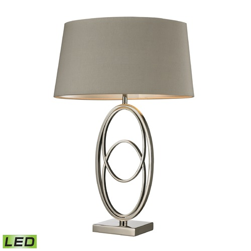 Dimond Lighting Dimond Lighting Polished Nickel LED Table Lamp with Oval Shade D2415-LED