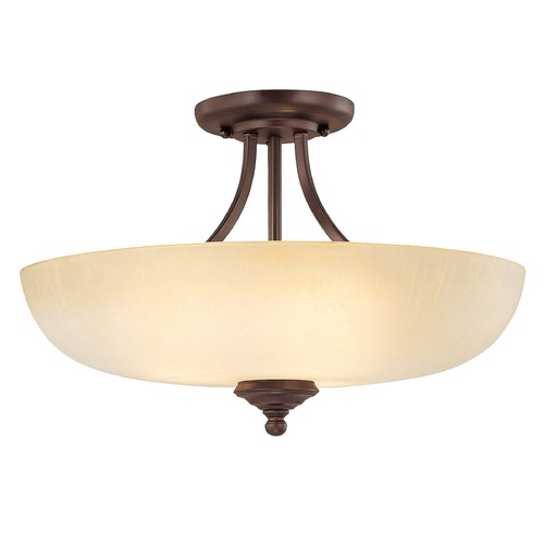 Capital Lighting Capital Lighting Chapman Burnished Bronze Semi-Flushmount Light 3947BB-TW