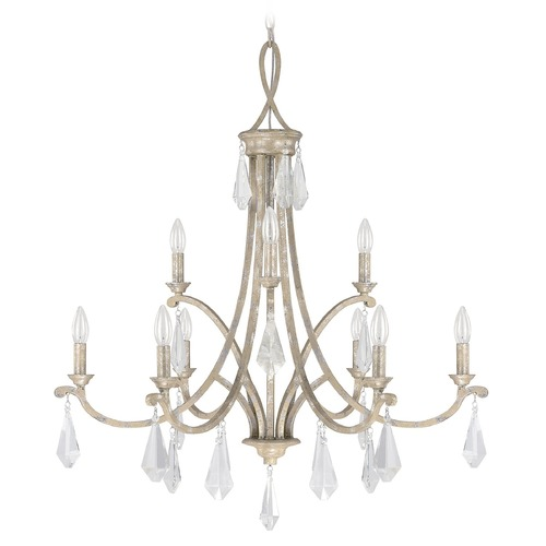 Capital Lighting Capital Lighting Harlow Silver Quartz Crystal Chandelier 4499SQ-000-CR