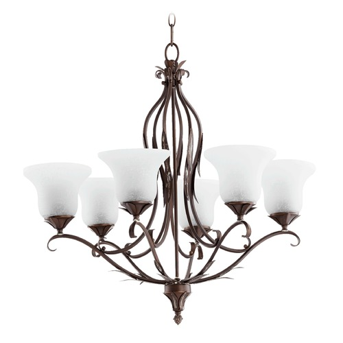 Quorum Lighting Quorum Lighting Flora Vintage Copper Chandelier 6272-6-39