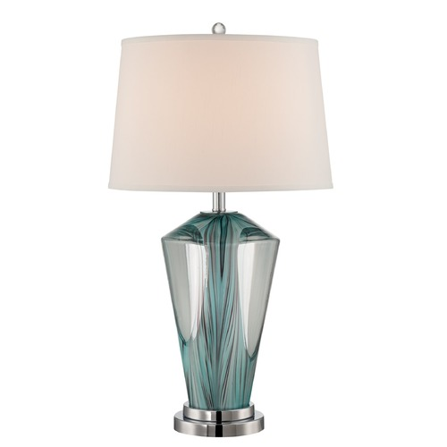 Lite Source Lighting Lite Source Stellan Chrome / Colored Table Lamp with Drum Shade LS-22855