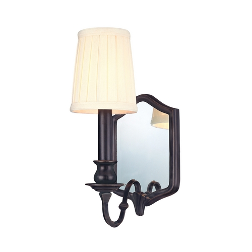 Hudson Valley Lighting Sconce Wall Light with White Shade in Old Bronze Finish 271-OB