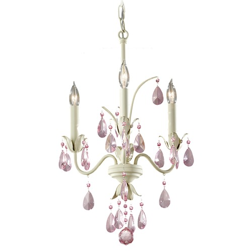 Feiss Lighting Crystal Chandelier in Ivory Finish F2756/3IV