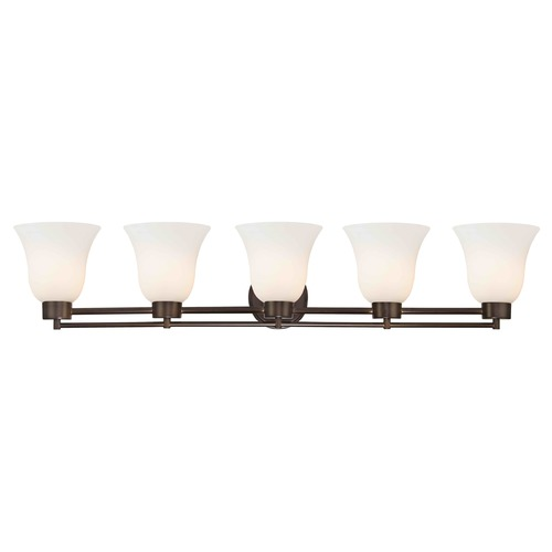 Design Classics Lighting Bronze Bathroom Light 706-220 GL9222-WH