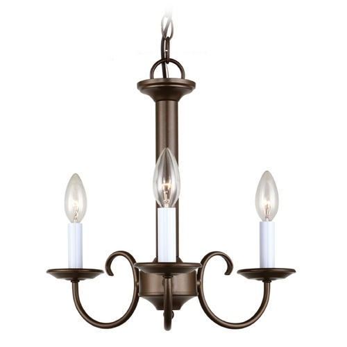 Sea Gull Lighting Mini-Chandelier in Bell Metal Bronze Finish 31807-827