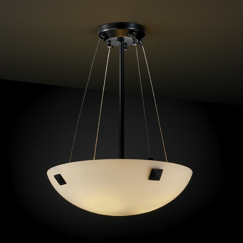 Justice Design Group Justice Design Group Fusion Collection Pendant Light FSN-9661-35-OPAL-MBLK-F5
