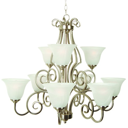 Jeremiah Lighting Jeremiah Cecilia Brushed Satin Nickel Chandelier 7131BN9