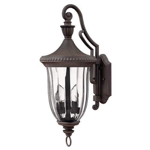 Hinkley Lighting Outdoor Wall Light with Clear Glass in Midnight Bronze Finish 1244MN