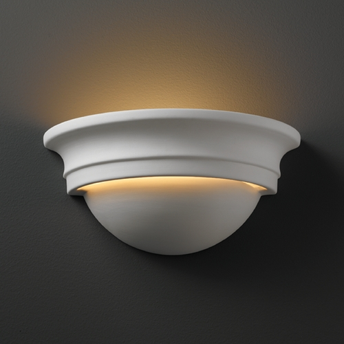 Justice Design Group Sconce Wall Light in Bisque Finish CER-1015-BIS