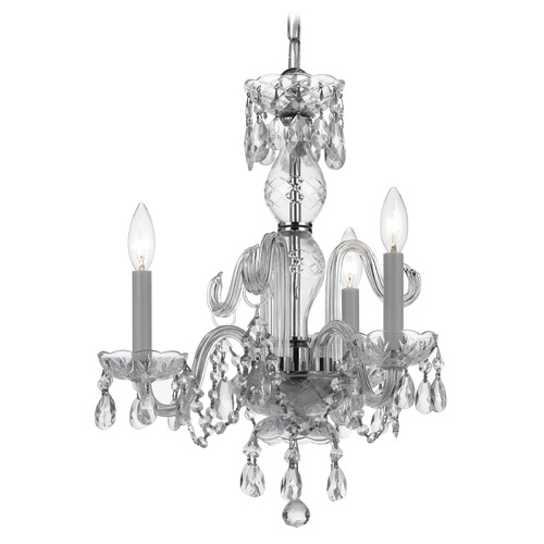 Crystorama Lighting Crystorama Lighting Traditional Crystal Polished Chrome Chandelier 5044-CH-CL-SAQ