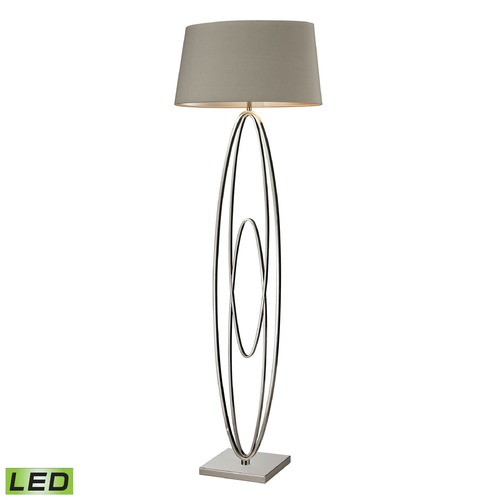 Dimond Lighting Dimond Lighting Polished Nickel LED Floor Lamp with Oval Shade D2416-LED