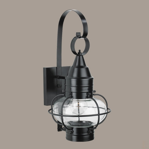 Norwell Lighting Norwell Lighting Classic Onion Black Outdoor Wall Light 1513-BL-CL