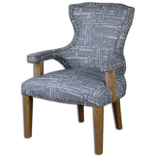 Uttermost Lighting Uttermost Citographie Gray Linen Armchair 23168