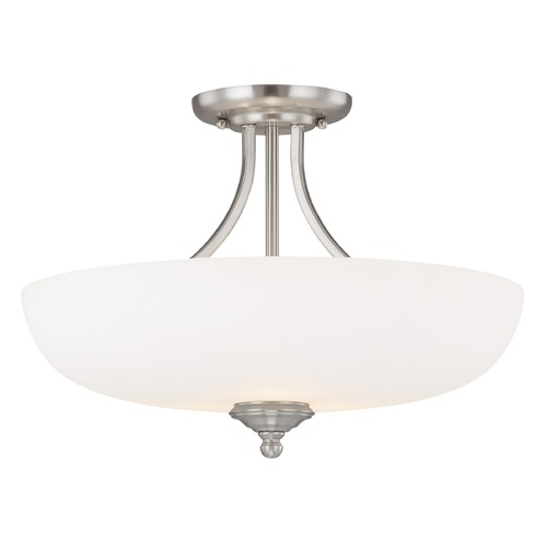 Capital Lighting Capital Lighting Chapman Matte Nickel Semi-Flushmount Light 3947MN-SW