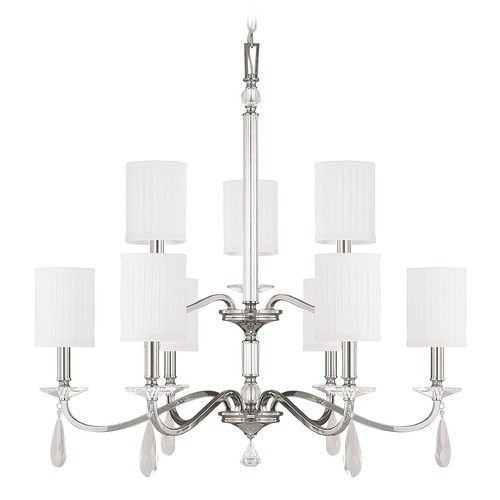 Capital Lighting Capital Lighting Alisa Polished Nickel Crystal Chandelier 4489PN-573-CR