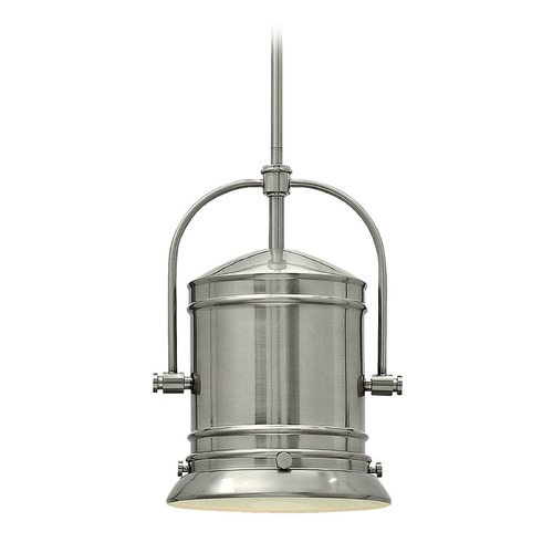 Hinkley Lighting Hinkley Lighting Pullman Brushed Nickel LED Pendant Light with Cylindrical Shade 3257BN-LED