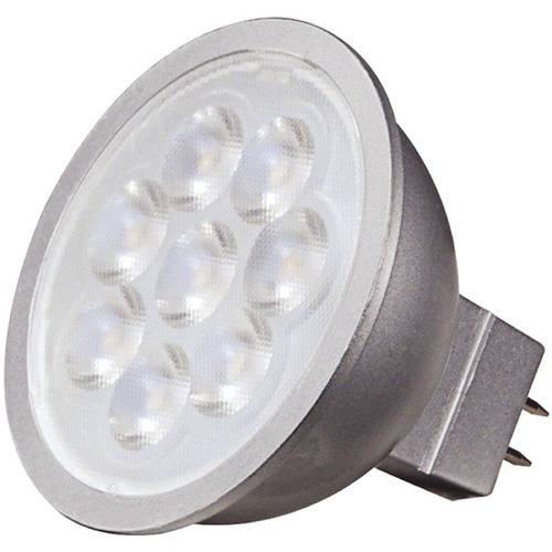 Satco Lighting 6.5W 2 Pin LED Bulb MR-16 Flood 40 Degree Beam Spread 500LM 3000K Dimmable S9496