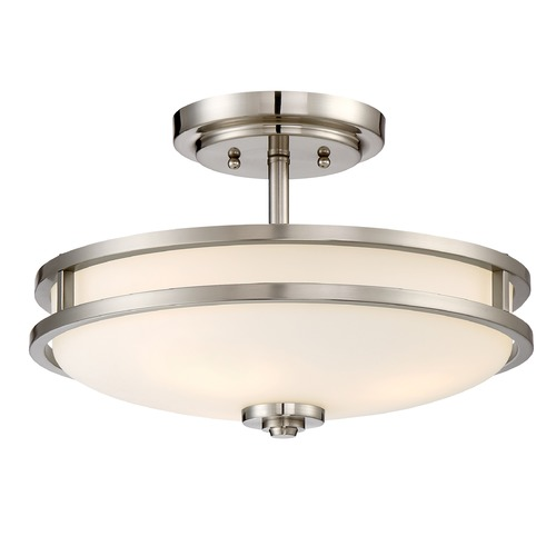 Quoizel Lighting Quoizel Lighting Cadet Brushed Nickel Semi-Flushmount Light CDT1715BN